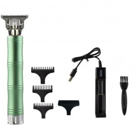 VIP Kit Alat Cukur Elektrik Hair Clipper Ceramic Trimmer USB Rechargerable Model Retro - RC409HA - Green - 1