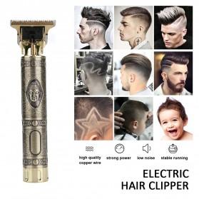 VIP Kit Alat Cukur Elektrik Hair Clipper Ceramic Trimmer USB Rechargerable Model Retro - RC409HA - Green - 2