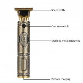 VIP Kit Alat Cukur Elektrik Hair Clipper Ceramic Trimmer USB Rechargerable Model Retro - RC409HA - Green - 5
