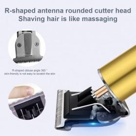 VIP Kit Alat Cukur Elektrik Hair Clipper Ceramic Trimmer USB Rechargerable Model Retro - RC409HA - Green - 7