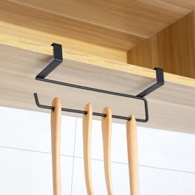 Becornce Rak Gantungan Tempat Tisu Paper Roll Towel Organizer Hanger - C345 - Black - 2