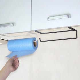 Becornce Rak Gantungan Tempat Tisu Paper Roll Towel Organizer Hanger - C345 - Black - 3