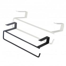 Becornce Rak Gantungan Tempat Tisu Paper Roll Towel Organizer Hanger - C345 - Black - 4