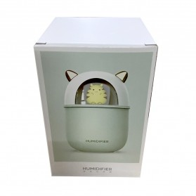 HFER Mini Air Humidifier Aromatherapy Oil Diffuser USB Cute Cat - H329 - Pink - 11