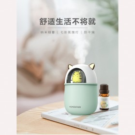 HFER Mini Air Humidifier Aromatherapy Oil Diffuser USB Cute Cat - H329 - Pink - 10