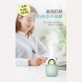 HFER Mini Air Humidifier Aromatherapy Oil Diffuser USB Cute Cat - H329 - Pink - 3