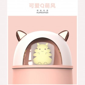HFER Mini Air Humidifier Aromatherapy Oil Diffuser USB Cute Cat - H329 - Pink - 6