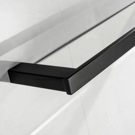 TURS Gantungan Dinding Kamar Mandi Premium Tempat Sabun Serbaguna N1-B - Black - 3