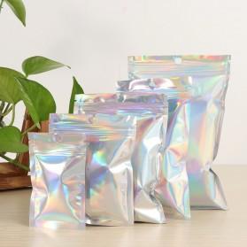 Kantong Plastik Ziplock Holographic Makanan Serbaguna 12x20cm 100 PCS - Transparent - 7