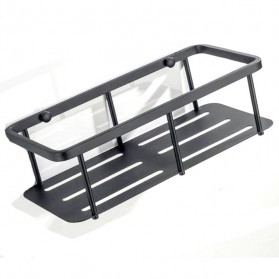 TURS Gantungan Dinding Kamar Mandi Bathroom Shelf Basket Model Kotak - N1-D - Black