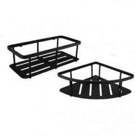 TURS Gantungan Dinding Kamar Mandi Bathroom Shelf Basket Model Kotak - N1-D - Black - 2