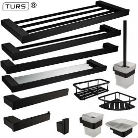 TURS Gantungan Dinding Kamar Mandi Bathroom Shelf Basket Model Kotak - N1-D - Black - 3