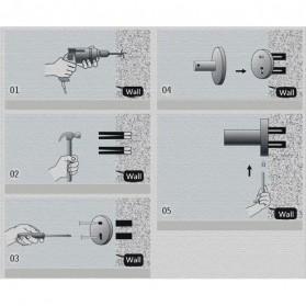 TURS Gantungan Dinding Kamar Mandi Bathroom Shelf Basket Model Kotak - N1-D - Black - 4