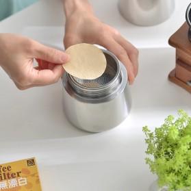 Yolife Kertas Filter Saringan Kopi Espresso V60 Drip Coffee Tea Infuser 100PCS Large - U103 - Brown - 5