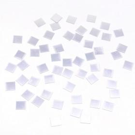 SOLEDI Sticker Dekorasi Dinding Mirror Acrylic Square Shape 100 PCS - CX909 - Silver
