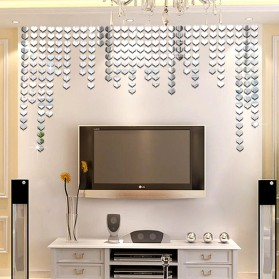 SOLEDI Sticker Dekorasi Dinding Mirror Acrylic Square Shape 100 PCS - CX909 - Golden - 10