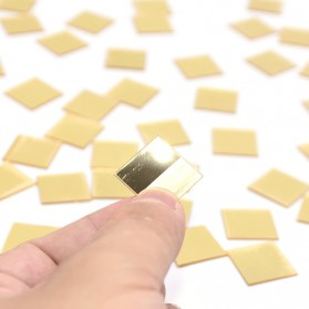 SOLEDI Sticker Dekorasi Dinding Mirror Acrylic Square Shape 100 PCS - CX909 - Golden - 3