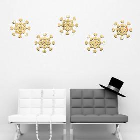 SOLEDI Sticker Dekorasi Dinding Mirror Acrylic Square Shape 100 PCS - CX909 - Golden - 7