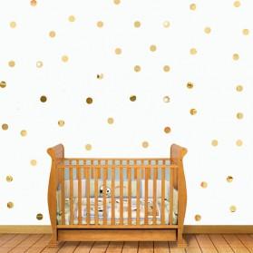 SOLEDI Sticker Dekorasi Dinding Mirror Acrylic Square Shape 100 PCS - CX909 - Golden - 8