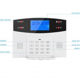 EMASTIFF Sistem Alarm Rumah Anti Maling Home Security WiFi GSM PTSN - G2BW - White - 5