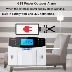 EMASTIFF Sistem Alarm Rumah Anti Maling Home Security WiFi GSM PTSN - G2BW - White - 8