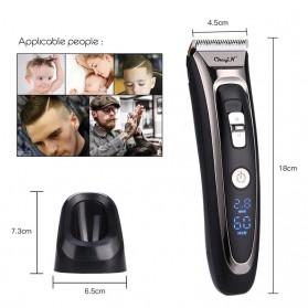 SURKER Alat Cukur Elektrik Hair Clipper Trimmer Cordless Barber - RFC-688B - Black - 4