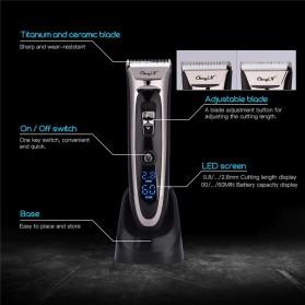 SURKER Alat Cukur Elektrik Hair Clipper Trimmer Cordless Barber - RFC-688B - Black - 5