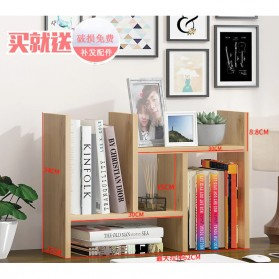 Veneer DIY Rak Meja Buku Bookshelf - ZWJ4004 - Brown - 1