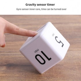 Aihogard Timer Digital Dapur Kotak Countdown Cube Timer - I6 - White - 10