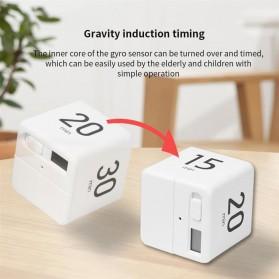 Aihogard Timer Digital Dapur Kotak Countdown Cube Timer - I6 - White - 2