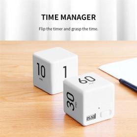Aihogard Timer Digital Dapur Kotak Countdown Cube Timer - I6 - White - 3
