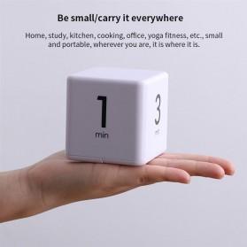 Aihogard Timer Digital Dapur Kotak Countdown Cube Timer - I6 - White - 4