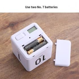 Aihogard Timer Digital Dapur Kotak Countdown Cube Timer - I6 - White - 5