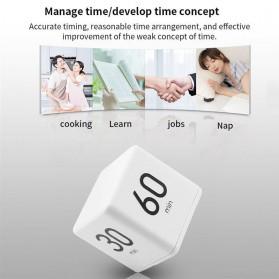 Aihogard Timer Digital Dapur Kotak Countdown Cube Timer - I6 - White - 6