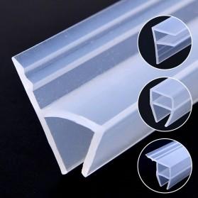 GANCHUN Seal Strip Karet Silikon Penyambung Pintu Jendela Kaca Waterproof Anti-leak 10mm - Transparent - 2