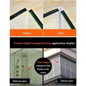 GANCHUN Seal Strip Karet Silikon Penyambung Pintu Jendela Kaca Waterproof Anti-leak 10mm - Transparent - 4