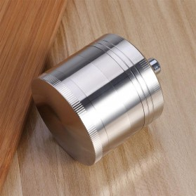 TBER Grinder Penggiling Tembakau Rokok 4 Layer 55MM with Handle - LBR-24 - Silver - 3