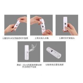 Vinkkatory Humidifier Nano Mist Sprayer Facial Steamer Moisturizer Nebulizer 20ml - L8 - White - 5