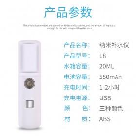 Vinkkatory Humidifier Nano Mist Sprayer Facial Steamer Moisturizer Nebulizer 20ml - L8 - White - 9