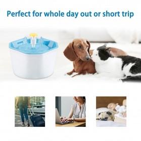 Winto Water Dispenser Fountain Tempat Minum Anjing Kucing 1.6 Liter - 16EU - Blue - 2