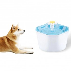Winto Water Dispenser Fountain Tempat Minum Anjing Kucing 1.6 Liter - 16EU - Blue - 3