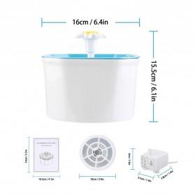 Winto Water Dispenser Fountain Tempat Minum Anjing Kucing 1.6 Liter - 16EU - Blue - 5