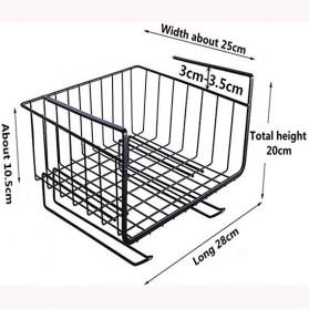 KITLOVE Rak Gantung Cabinet Door Organizer Storage Basket Rack - IFB41 - Black - 5