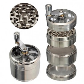 ISHOWTIENDA Grinder Penggiling Tembakau Rokok Herbal Herb Crusher 4 Layer - LST-25 - Silver