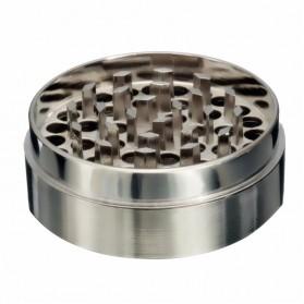 ISHOWTIENDA Grinder Penggiling Tembakau Rokok Herbal Herb Crusher 4 Layer - LST-25 - Silver - 3
