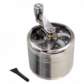 ISHOWTIENDA Grinder Penggiling Tembakau Rokok Herbal Herb Crusher 4 Layer - LST-25 - Silver - 5