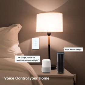 SHAWADER Smart Home Saklar Lampu Touch Wireless WiFi 2 Switch - WLS028 - Black - 2