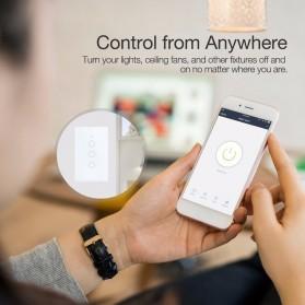 SHAWADER Smart Home Saklar Lampu Touch Wireless WiFi 2 Switch - WLS028 - Black - 3