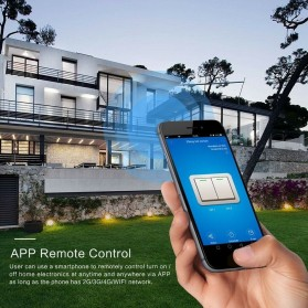 MINITIGER Smart Home Saklar Lampu Touch Wireless WiFi 2 Switch - FXF028 - Black - 2