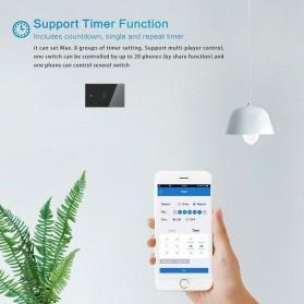 MINITIGER Smart Home Saklar Lampu Touch Wireless WiFi 2 Switch - FXF028 - Black - 3